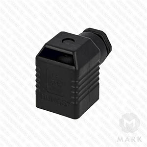 """арт.210319 Штекер для клапана 4-х контактный """"черный""""  фирмы DUNGS"""
